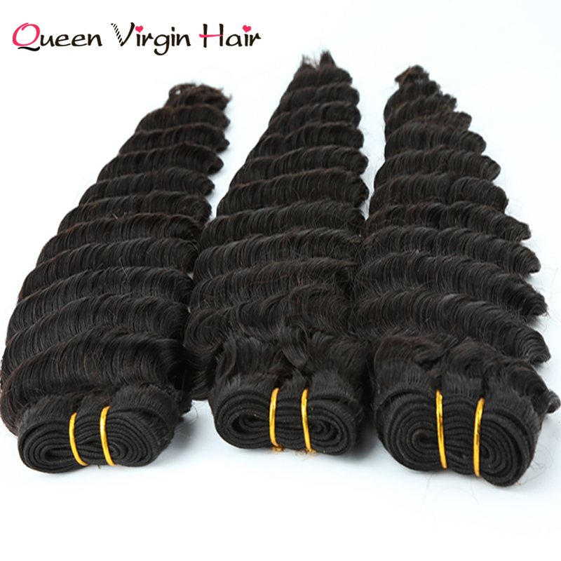 Indian Human No shedding Tangle free Hair Deep Wave virgin Hair Extensions