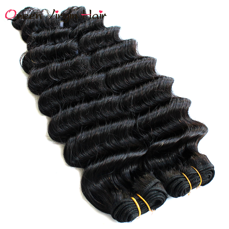 No shedding One donor Hair Deep Wave Virgin Indian Hair Extension packaging