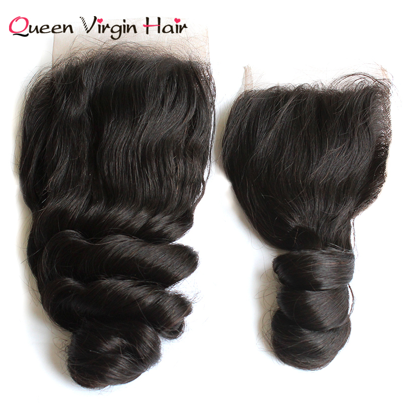 Malaysia High Quality Cuticle Aligned Loose Wave Hair With Lace Closure