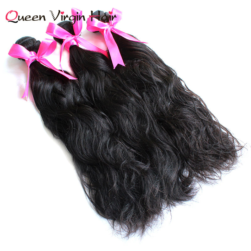 Brazilian Virgin Cuticle Aligned Permit Visa Work Natural Wave Hair Extension